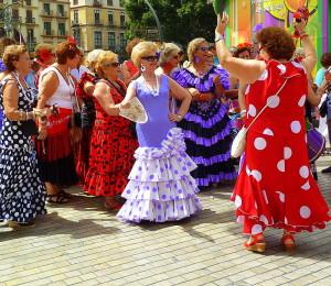 Feria de Malaga dancers, Malaga