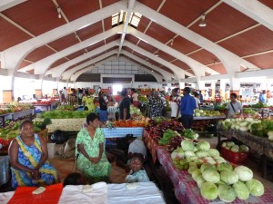 Food market in Port Villa