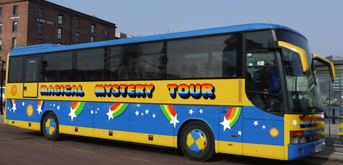 Magical Mystery Tour bus