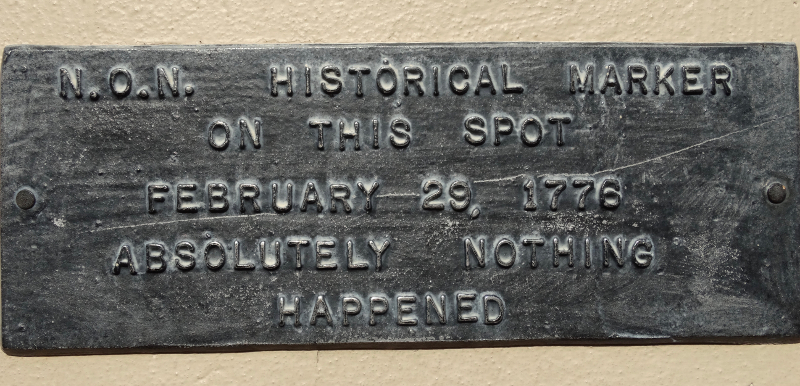 Plaque where nothing happened