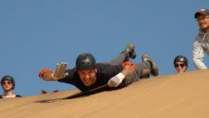Sandboarding in Swakop