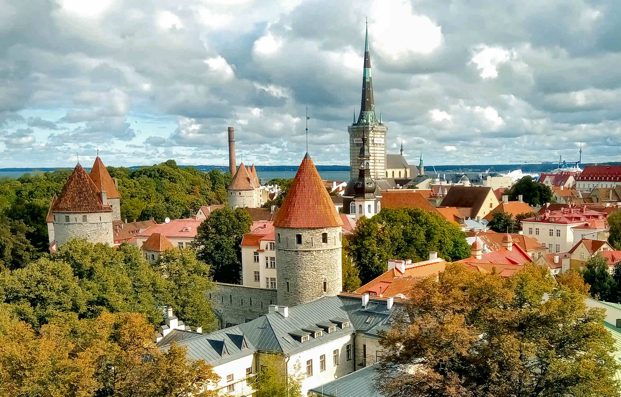 Tallinn View from Toompea Hill